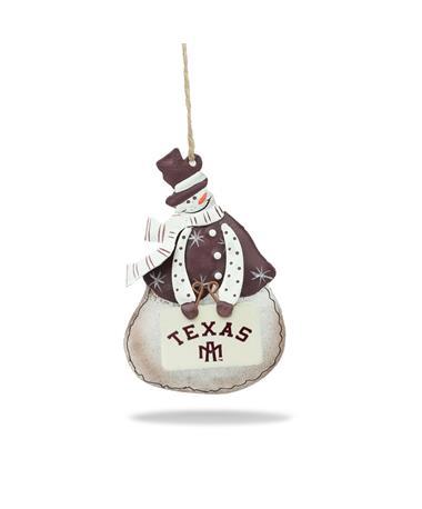 Texas A&M Vintage Snowman Ornament