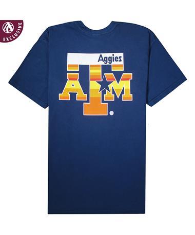 Texas A&M Aggies Blue & Orange Star T-Shirt