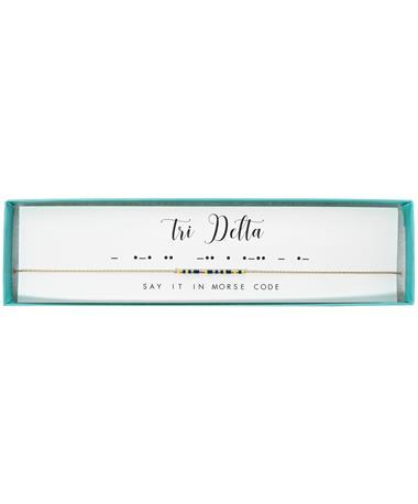 Tri Delta Morse Code Necklace