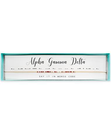 Alpha Gamma Delta Morse Code Necklace
