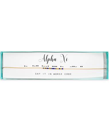 Alpha XI Delta Morse Code Necklace