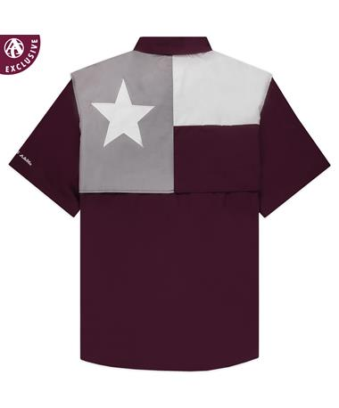 Texas A&M Men's Flag Fishing Button Down Shirt