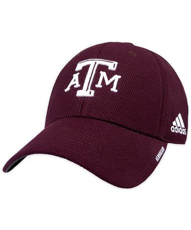 Texas A&M Adidas Coaches Structured Flex Fitted Hat