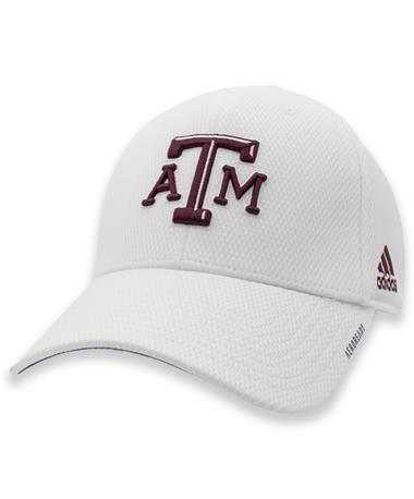 Texas A&M Adidas Coach Structured Flex Fitted Hat