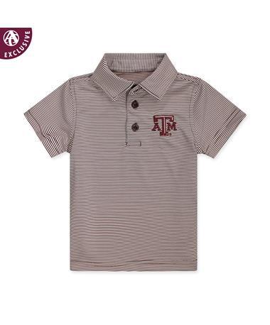 Texas A&M Infant Micro Stripe Polo