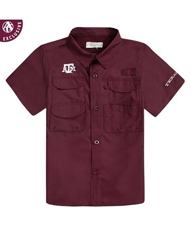 Texas A&M Maroon Athletic Youth Fishing Shirt
