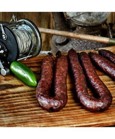 Prasek's Smokehouse Dried Pork & Beef Jalapeño Sausage