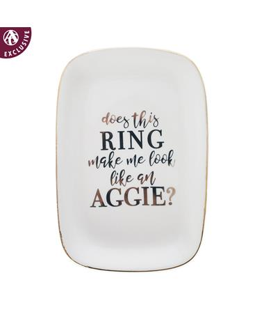 Script Look Like An Aggie Ring Dish