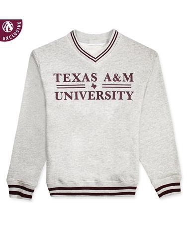 Texas A&M Basic Bar Striped Youth Sweatshirt