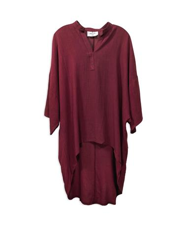 Maroon Sloan High/Low Tunic