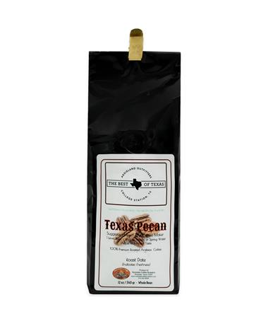 Rockdale Texas Pecan Coffee  - Whole Beans 12 oz