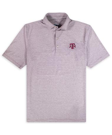 Texas A&M Johnnie-O Lyndon Prep Performance Jersey Polo Maroon