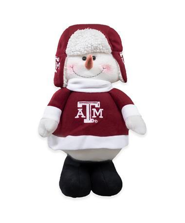 Texas A&M Chilly Snowman Mascot Extendable Decor Plush