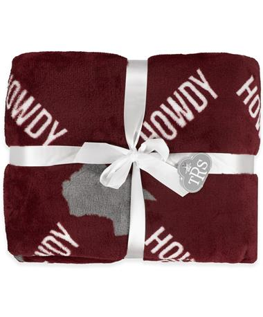 HOWDY Texas Throw Blanket