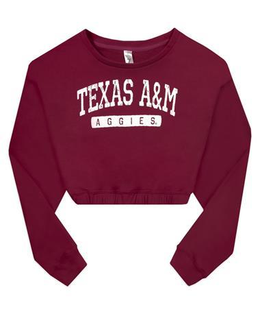 Texas A&M Cinch Waist Cropped Sweatshirt