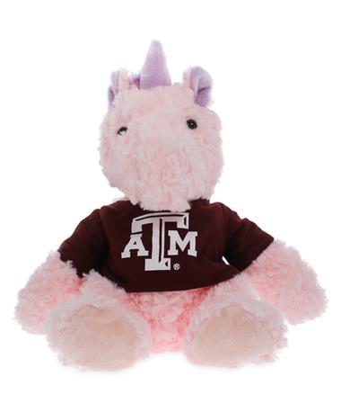 Texas A&M Cuddle Buddy Pink Unicorn