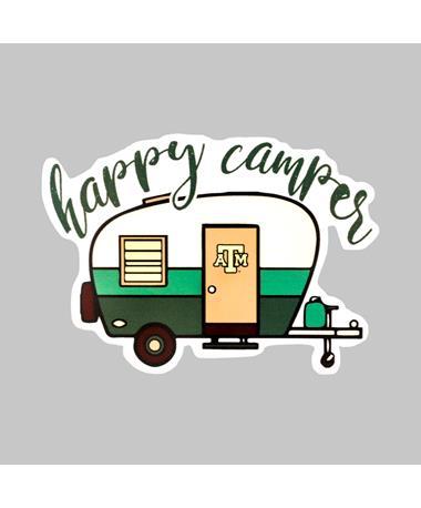 Texas A&M Happy Camper Dizzler Sticker