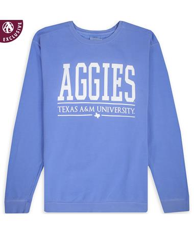Texas A&M Big All Caps Aggies Sweatshirt