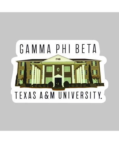 Texas A&M Gamma Phi Beta House Dizzler Sticker