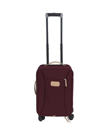 Maroon Jon Hart 360 Wheels Carry On Suitcase