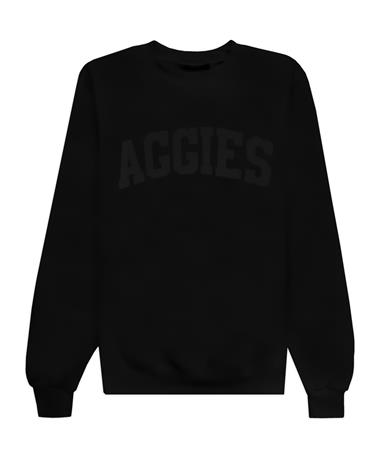 Texas A&M Aggies Champion Black On Black Powerblend Crewneck