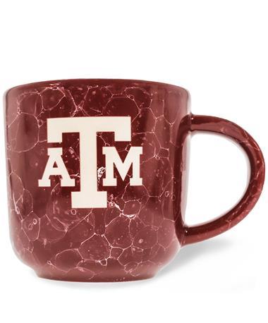 Texas A&M Etched Block ATM Natural Mug