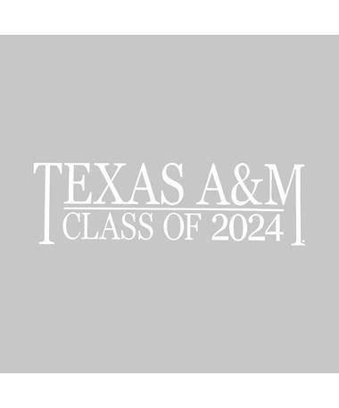 Texas A&M Class of 2024 Vinyl Decal