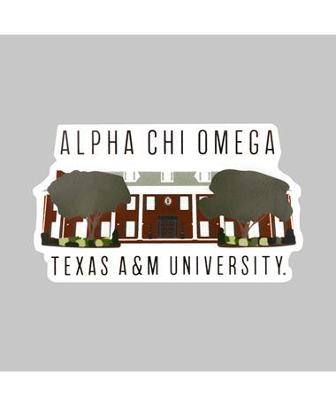 Texas A&M Alpha Chi Omega Dizzler Sticker