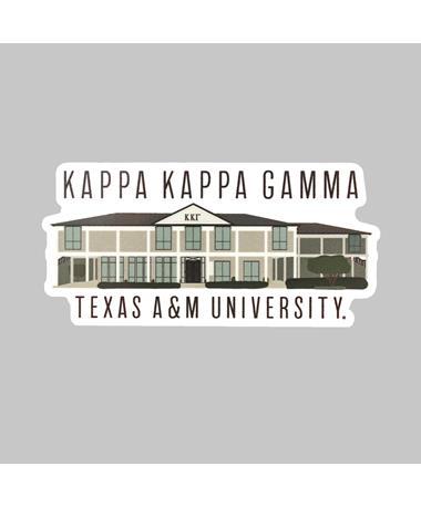 Texas A&M Kappa Kappa Gamma Dizzler Sticker