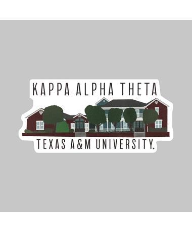 Texas A&M Kappa Alpha Theta Dizzler Sticker