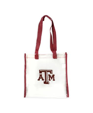 Texas A&M Maroon Straps Clear Bag