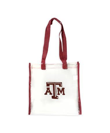 Texas A&M Maroon Straps Clear Bag