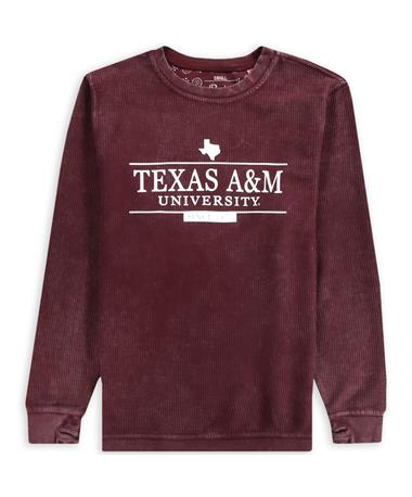 Texas A&M Comfy Corduroy Pullover - Bar State