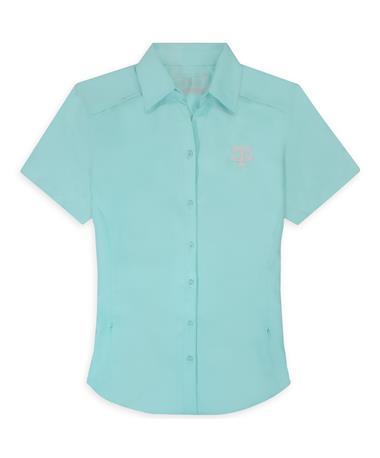 Texas A&M GameGuard Seaglass Women's MicroFiber Shirt