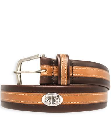 Texas A&M Zeppelin Two-Tone Tubular Belt
