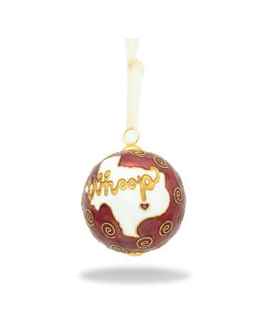 Texas A&M Kitty Keller Whoop Maroon Ornament