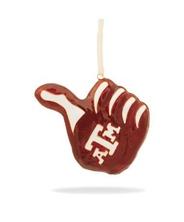 Texas A&M Kitty Keller Gig 'Em Thumb Ornament