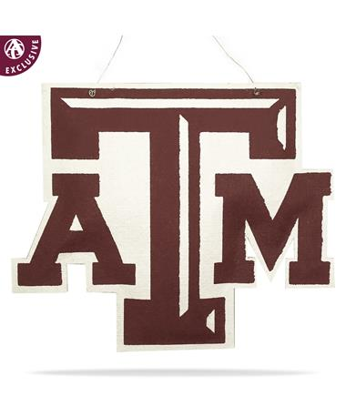 Texas A&M Maroon & White Chiseled Hanging Burlee