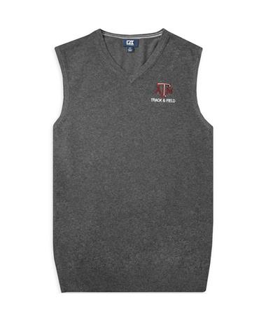 Texas A&M Cutter & Buck Charcoal Lakemont Track & Field Vest