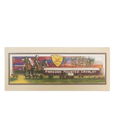 Texas A&M Benjamin Knox Parsons Mounted Cavalry Single Note Card
