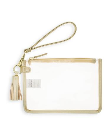 Gold Clear Wristlet