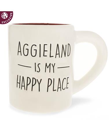 Texas A&M Jumbo Aggieland Happy Place Mug