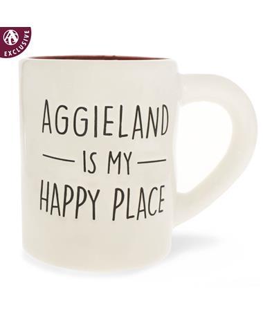 Texas A&M Jumbo Aggieland Happy Place Mug