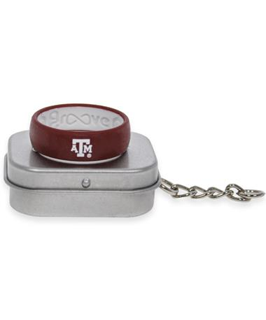 Texas A&M Groove Maroon Wide Band ATM Logo