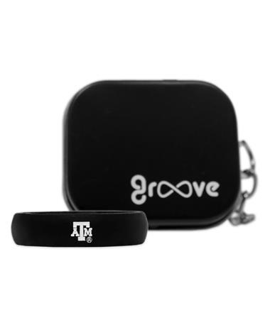 Texas A&M Groove Black Thin Band ATM Logo