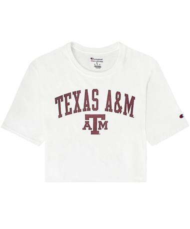 Texas A&M Boyfriend Crop Tee