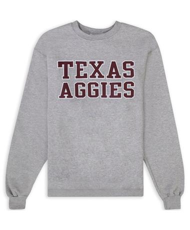 Texas A&M Champion Texas Aggies Grey Powerblend Crewneck