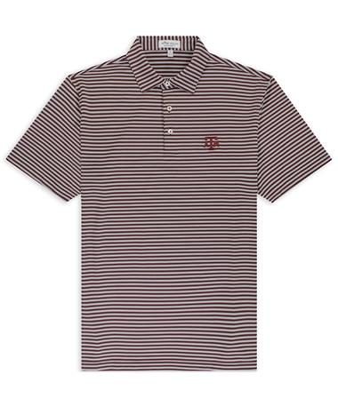 Texas A&M Peter Millar Mills Stripe Jersey Polo