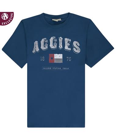 Texas A&M Aggies Rustic Flag 1876 T-Shirt