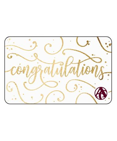 Aggieland Outfitters Gold Congratulations E-Gift Card